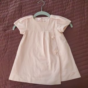 Baby Dior Light pink corduroy dress